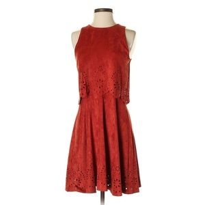 Romeo & Juliet Couture Suede Dress